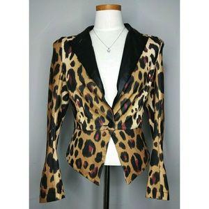 Kardashian Kollection Leopard Blazer